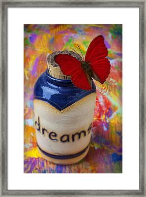 Jar Of Dreams Framed Print by Garry Gay