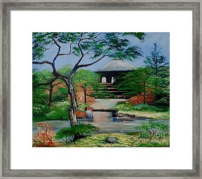 Jardin Japonais  Framed Print