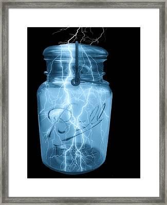 Jarred Lightning Framed Print by Jack Zulli