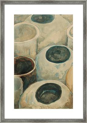 Jars Framed Print by Diane montana Jansson
