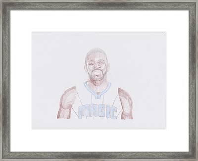 Jason Richardson Framed Print by Toni Jaso