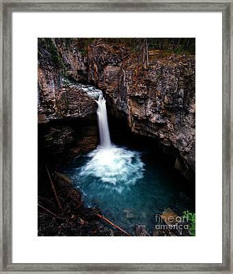 Jasper - Beauty Creek Falls Framed Print by Terry Elniski