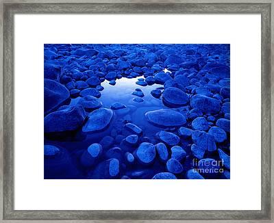 Jasper - Blue Boulders Framed Print by Terry Elniski