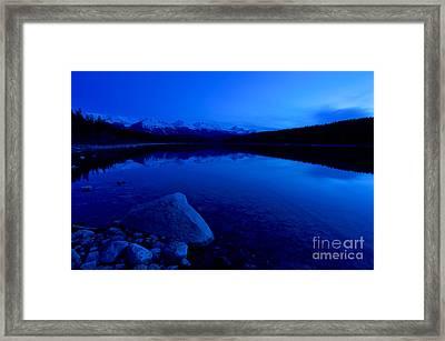 Jasper - Patricia Lake At Dusk 3 Framed Print by Terry Elniski