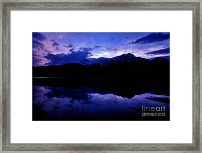 Jasper - Patricia Lake At Dusk Framed Print by Terry Elniski