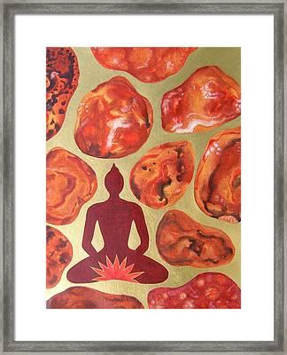 Jasper Root Chakra Framed Print by Jennifer Baird