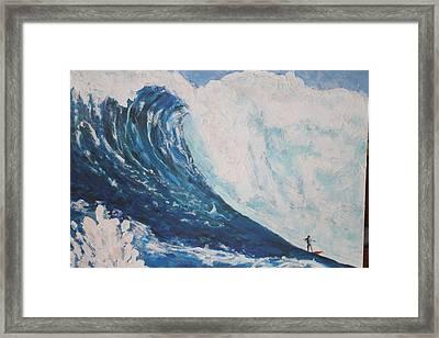 Jaws Peahi Maui Hawaii Framed Print by Giorgia Piekarski