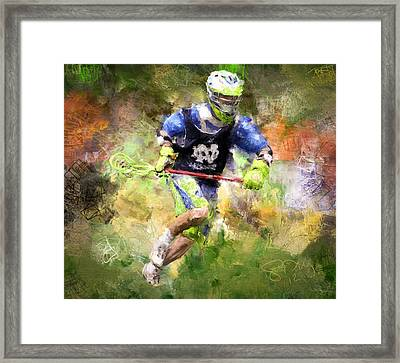 Jaxx Lacrosse 2 Framed Print by Scott Melby