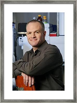 Jay Keasling, Us Scientist Framed Print by Volker Steger