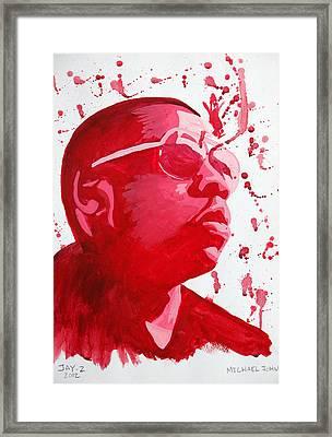 Jay-z Framed Print by Michael Ringwalt