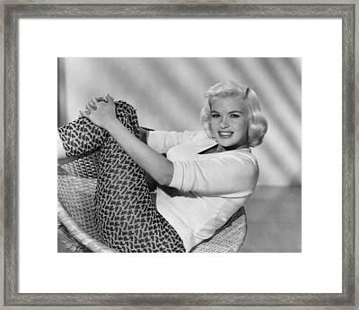 Jayne Mansfield, Ca. Late 1950s Framed Print by Everett