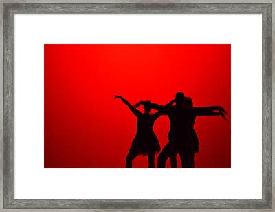 Jazz Dance Silhouette Framed Print