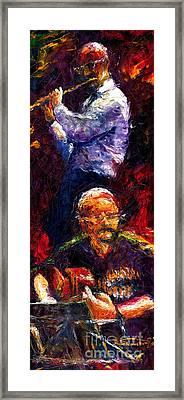 Jazz Duet 1 Framed Print by Yuriy  Shevchuk