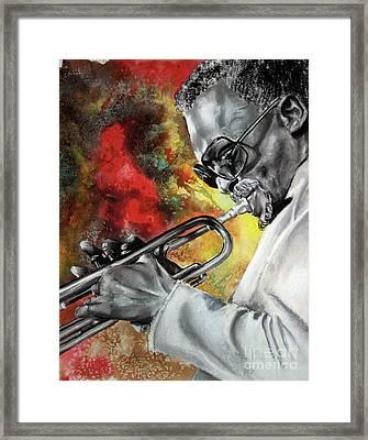 Jazz Fire Framed Print