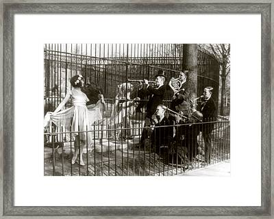 Jazz For The Bears, Five Men Playing Framed Print by Everett