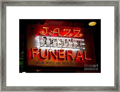 Jazz Funeral Framed Print by Leslie Leda