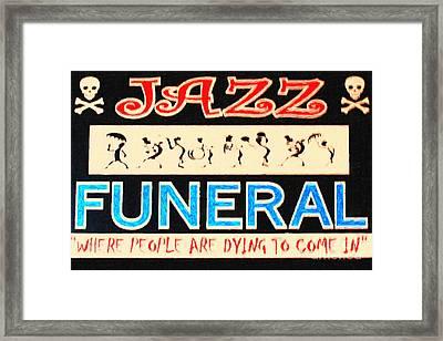 Jazz Funeral New Orleans Framed Print