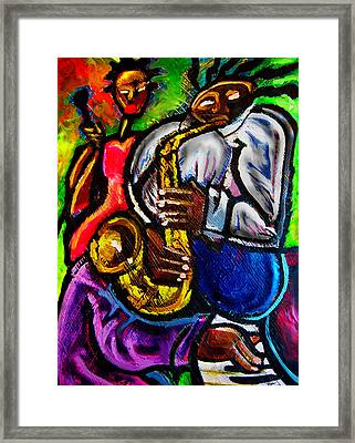 Jazz Groove Framed Print by Kevin McDowell