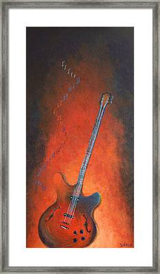 Jazz Guitar Framed Print by Bill Werle