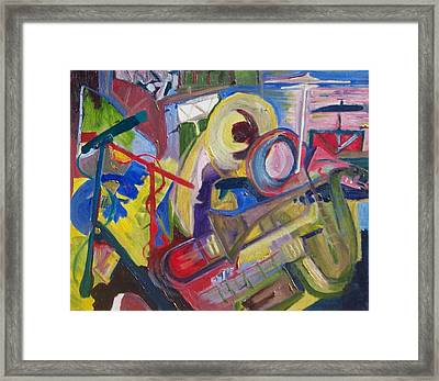 Jazz In The Studio  Framed Print by James Christiansen