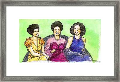 Jazz Ladies Framed Print by Mel Thompson