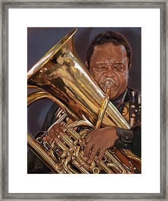 Jazz Legend- Howard Johnson Framed Print by Larry Seiler