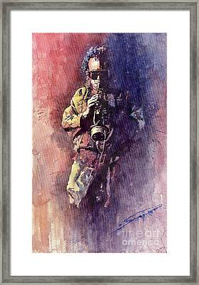 Jazz Miles Davis Maditation Framed Print