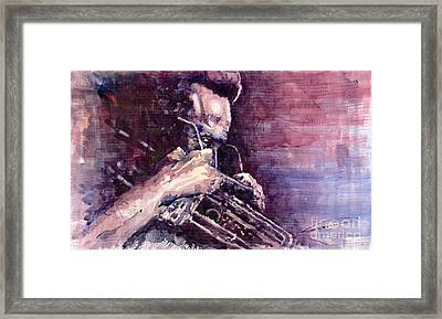 Jazz Miles Davis Meditation  Framed Print