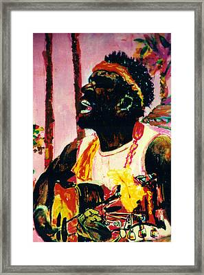 Jazz Musician Framed Print