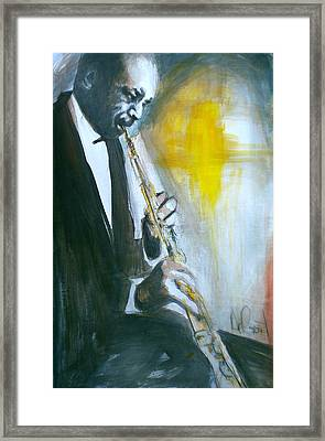 Jazz Preparation Framed Print