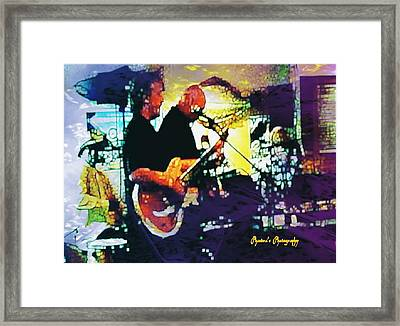 Jazz Scene Framed Print by Sadie Reneau