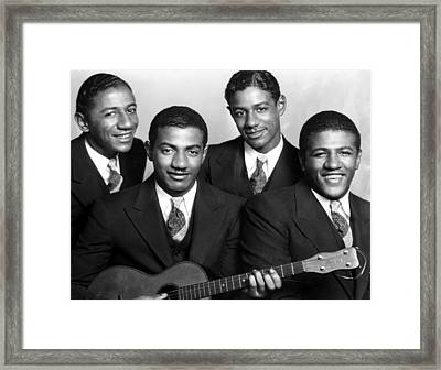 Jazz Vocal Quartet The Mills Brothers Framed Print by Everett
