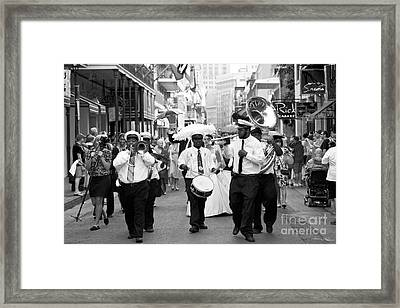 Jazz Wedding Framed Print