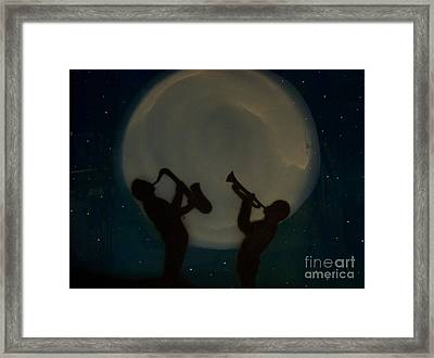Jazzing At The Moon Framed Print