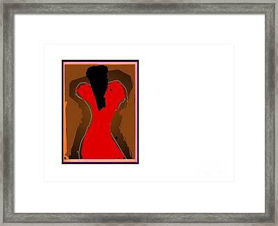 Jazzy Lady Framed Print by Derek M A Alexander