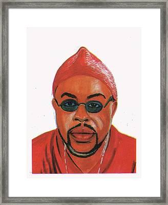 Jb Mpiana Framed Print by Emmanuel Baliyanga