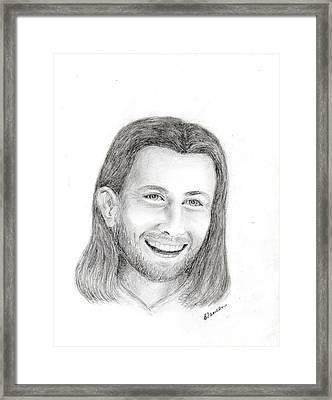 Jc1 Jesus Framed Print by Cathy Samson