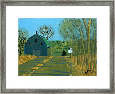Jct 131 Framed Print by Laurie Breton