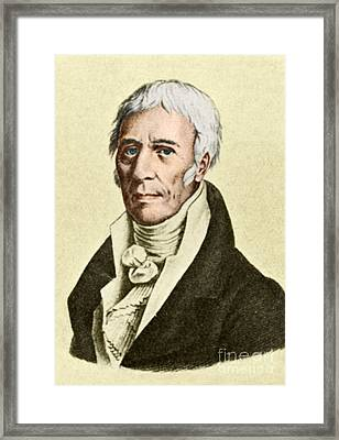 Jean-baptiste Lamarck, French Naturalist Framed Print by Science Source