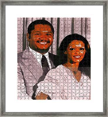 Jean Claude Et Michelle Bennette Duvalier Framed Print