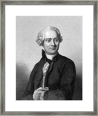 Jean D'alembert, French Mathematician Framed Print by Middle Temple Library