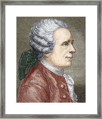 Jean D'alembert, French Mathematician Framed Print by Sheila Terry