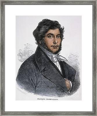 Jean-francois Champollion Framed Print by Granger