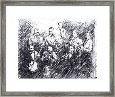 Jean Goldkette Orchestra 1926 Framed Print by Mel Thompson