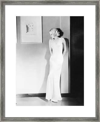 Jean Harlow (1911-1937) Framed Print
