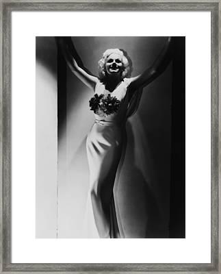Jean Harlow, 1935 Framed Print by Everett
