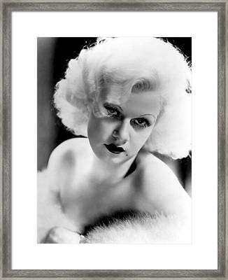Jean Harlow, Ca. 1932-33 Framed Print by Everett