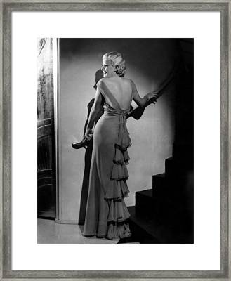 Jean Harlow, Ca. Early-mid 1930s Framed Print by Everett