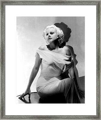 Jean Harlow Framed Print by Everett