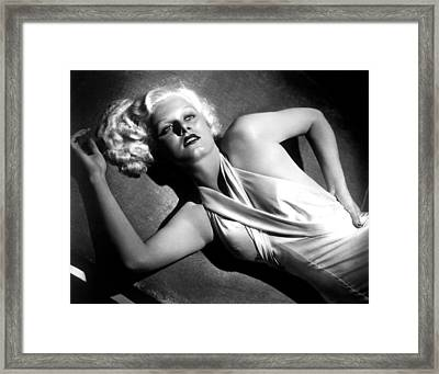 Jean Harlow, Fashion Still For Dinner Framed Print by Everett